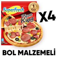 Dondurulmuş Superfresh Pizza King 4'lü 780 gr