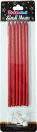 Simli Uzun Mum Kırmızı 6'lı